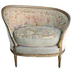 Bergère Louis XVI recouverte de tapisserie d'Aubusson. …