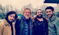 Robert Plant with his son Logan and The Graveltones at the Beavertown Brewery Festival yesterday
