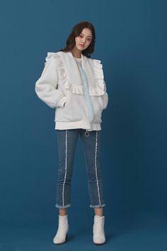 RC17B593 - (주) 로맨시크 ROMANCHIC Denim Fashion, Cute Fashion, Daily Fashion, Trendy Fashion, Korean Fashion, Girl Fashion, Fashion Dresses, Fashion Looks, Womens Fashion