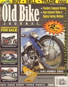 Robin Markey's immaculate and AMCA-eligible 1960 Honda Vintage Honda Motorcycles, Buy Sell Trade, Bikes For Sale, Old Bikes, Harley Davidson, Robin, Mongrel, History, Magazines
