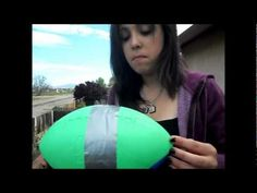 Nerf Football Egg Drop Science Project - YouTube