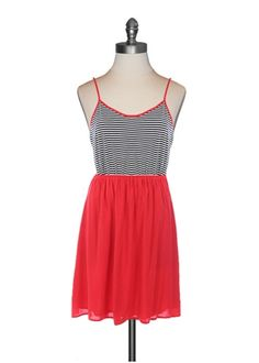 {nautical stripes & red skirted tank dress} such a cute lil dress!