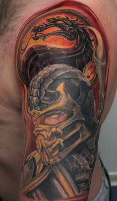 mortal kombat subzero tattoos | mortal kombat scorpion mortal kombat tattoos tattoo designs tattoo