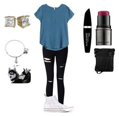 """""""Cute as a dog#3"""" by johannaelyce on Polyvore featuring Miss Selfridge, Converse, Burberry, H&M, Alex and Ani and Max Factor"""