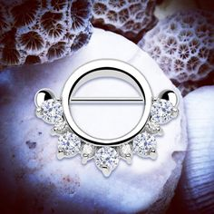 Jasmine Jeweled Nipple Shield | Silver Nipple Bar 14G Body Jewelery Dangle Nipple Piercing Flower Nipple Barbell Crystal Nipple Ring Pretty by ThrowBackAnnie on Etsy https://www.etsy.com/uk/listing/290866259/jasmine-jeweled-nipple-shield-silver