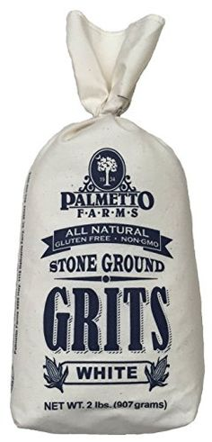 Palmetto Farms White Stone Ground Grits 2 LB - Non-GMO - Just All Natural Corn, No Additives - Naturally Gluten Free, Produced in a Wheat Free Facility - Grinding Grits Since 1934 Palmetto Farms http://www.amazon.com/dp/B009HHNUUE/ref=cm_sw_r_pi_dp_PeGrwb1ED0P54