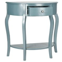 Jan Navy Demilune Console Table @LaylaGrayce