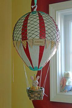 Vintage Nursery Hot Air Balloon- I REALLLY want a hot air balloon in a little girls nursery! This is so cute.