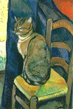 Suzanne Valadon, Katze, 1918, Öl auf Leinwand