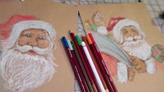 how to draw vintage santa                                                                                                                                                                                 More