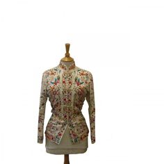 Embroidered Chinoiserie vintage Silk jacket.. More on http://www.blue17.co.uk/