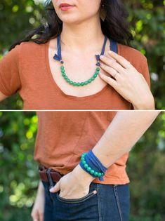 DIY the Most Versatile Necklace Ever – Wear It 3 Ways! | http://hellonatural.co/diy-necklace-3-ways/