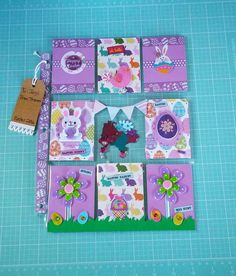 Easter pocket letter. I like the way the grass at the bottom forms a border across pockets.