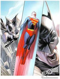 The Trust mini comic of Batman Vs Superman - Alex Ross