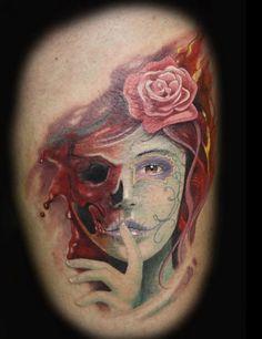 sugar skull tattoos girls | Sugar Skull Girl~ | Tattoos I Love