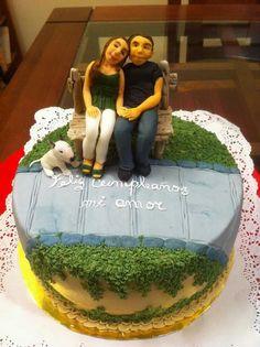 Pastel pareja de enamorados Pastel, Cake, Desserts, Food, Love Couple, Caves, Couples, Pie Cake, Tailgate Desserts
