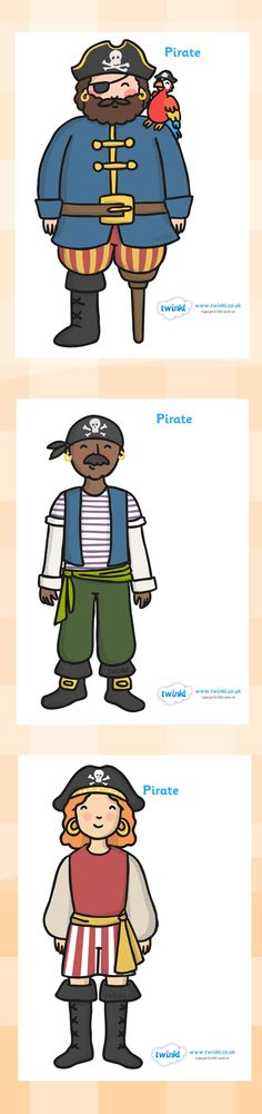Twinkl Resources >> Pirates Display Posters  >> Classroom printables for Pre-School, Kindergarten, Elementary School and beyond! Topics, Pirates, Classroom Display, Posters