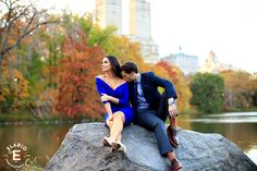 Central Park Engagement Photos by Elario Photography Inc. This engagement session was shot in Central Park in New York City.