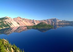Crater Lake National Park - Oregon. At over 1900 feet, Crater Lake is the deepest lake in North America. It was formed around 7,700 years ago by the collapse of the volcano Mount Mazama. It has no inlet or outlet, and is fed by rain and snow.