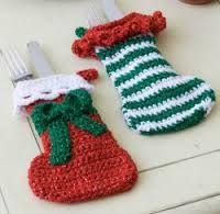 Resultado de imagen para porta cubiertos navideños paso a paso