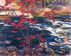 1914 A Y Jackson (Canadian Group of Seven) ~ The Red Maple.taking pics at AY Jackson Lookout Sudbury ON Tom Thomson, Emily Carr, Canadian Painters, Canadian Artists, Jackson, Group Of Seven Artists, Art Inuit, Franklin Carmichael, Culture Art
