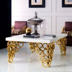 Coffee Table India, Unique Coffee Table, Centre Table Living Room, Glam Living Room, Dining Table, Silver Furniture, Table Furniture, Wooden Furniture, Beautiful Houses Interior