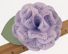 Paper Roses with Personalized Print: Invitations por PAPERFLORISTS