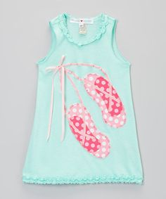 Love this Pink & Pink Ballet Slippers Ruffle Dress- Infant, Toddler & Girls on #zulily! #zulilyfinds