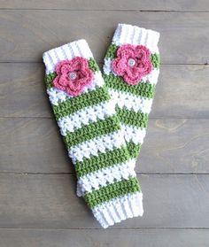 Crochet Leg Warmers for girls by OverTheAppleTree