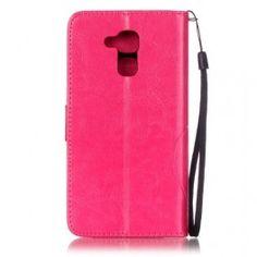 Huawei Honor 7 Lite pinkki perhoset puhelinlompakko