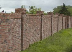 I had a brick fence until the May 31 Oklahoma winds blew it down....