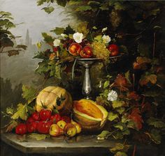 Bertha Wegmann (Danish, 1847 - 1926): Still Life with Flowers (c. 1880) (via Stockholms Auktionsverk)