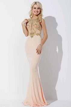 Blush Pink Jersey Prom Dress 33473