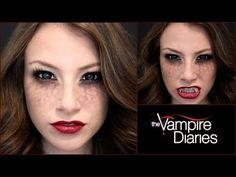 Complete list of halloween makeup ideas 60 images pinterest maybe for next year go evil the vampire diaries halloween makeup tutorial solutioingenieria Choice Image