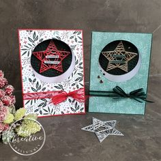 How to create a pretty Star aperture Christmas Card - KISS Kreative Christmas Cards To Make, Christmas Colors, Pretty Star, Aperture, Poppies, Stampin Up, Card Making, Paper Crafts, Seasons