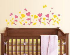 Heart Tulips Wall Decals,Heart Tulips Wall Sticker, Heart Tulips Tattoo. Love Wall Decals.