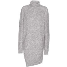 Acne Studios Daija Mohair and Wool-Blend Turtleneck Sweater (€405) ❤ liked on Polyvore featuring tops, sweaters, grey, turtle neck sweater, grey sweaters, gray turtleneck sweater, wool-blend sweater and polo neck sweater