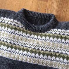 Hjemmestrikket genser til husbonden⚓️ #oskargenser #knitting_inna #bystrikk #dustorealpakkasterk #dettetokenevighet