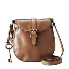 I LIKE over the shoulder brown purse