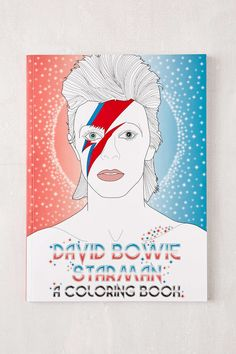 David Bowie Starman A Coloring Book By Laura Coulman Coco Balderrama