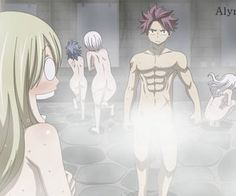 Lucy sees Natsu naked and Natsu's seen Lucy naked End Fairy Tail, Fairy Tail Gruvia, Fairy Tail Funny, Fairy Tail Natsu And Lucy, Fairy Tail Ships, Fairy Tail Photos, Fairy Tail Cosplay, Love Fairy, Anime Love Couple