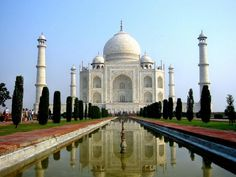 100 Most Famous Landmarks Around the World:  Taj Mahal, Agra, India