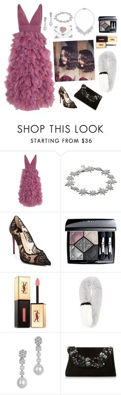 """""""Taking my time to the top."""" by bunnisexy ❤ liked on Polyvore featuring Notte by Marchesa, Betsey Johnson, Christian Louboutin, Christian Dior, Yves Saint Laurent, Assael, Dune and Bottega Veneta"""