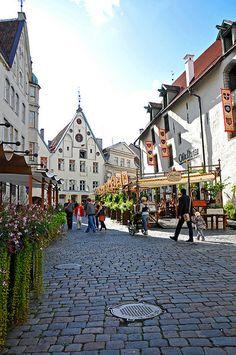 Tallinn, Estonia...loved the cobblestones!! <3