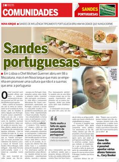 Chef continues to promote Portuguese food one sandwich at a time. (Article in Portuguese)