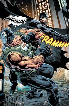 Batman vs Bane by Scot Eaton