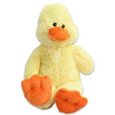 "Amazon.com : Large Plush Cuddle Yellow Duck Stuffed Toy 31.5"" Tall : Toys & Games $42.50"