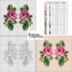 Miniature rose charts