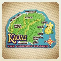 ハワイ諸島はカウアイ島で購入したマグネットです。通称The Garden Islandと呼ばれている島で、このマグネにはそれもちゃんと描いてある一品。実はそんなにお気に入りじゃなかったんだけど、ジワジワ好きになってきました。