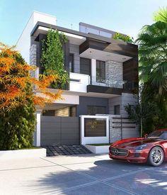Ideas For Exterior Architecture Facade Modern Interior Design 3 Storey House Design, House Gate Design, Kerala House Design, Bungalow House Design, House Front Design, Best Modern House Design, Modern Exterior House Designs, Dream House Exterior, House Architecture Styles